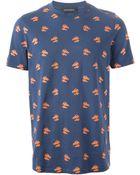 Kris Van Assche Horse Head-Print T-Shirt - Lyst