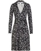 Diane von Furstenberg Printed Silk Wrap Dress - Lyst