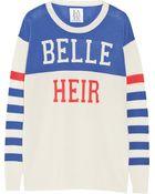 Zoe Karssen Belle Heir Wool, Silk And Cashmere-Blend Sweater - Lyst