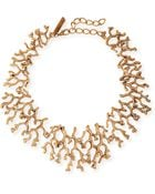 Oscar de la Renta Golden Coral Branch Necklace - Lyst