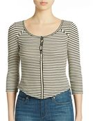Free People Striped Cropped Top - Lyst
