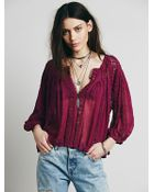 Free People Womens Fp One Flower Chain Top - Lyst