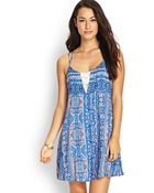 Love 21 Paisley Lace Cami Dress - Lyst