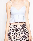 Bardot Cami Top With Peplum Hem - Lyst