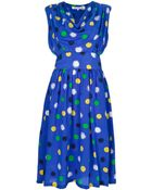 Givenchy Vintage Polka Dot Dress - Lyst