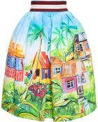 Stella Jean Watercolour Print Skirt - Lyst