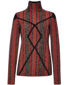 Thakoon Striped Boucle Long Sleeve Pullover - Lyst