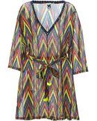 M Missoni Aztec Print Belted Dress - Lyst