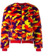 House of Holland Camouflage Fur Bomber Jacket - Lyst