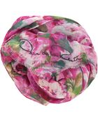 Oscar de la Renta All Over Floral Scarf - Lyst