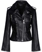 McQ by Alexander McQueen Leather Outerwear - Lyst