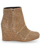 TOMS Cheetah Suede Women'S Desert Wedge Highs - Lyst