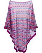 M Missoni Striped Cape Sweater - Lyst