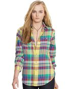 Polo Ralph Lauren Slimfit Plaid Utility Shirt - Lyst