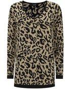 Armani Jeans Oversized Leopard Tunic - Lyst
