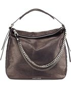 Jimmy Choo Boho Biker Metallic Hobo Bag Metallic Navy - Lyst