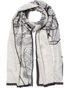 Etro Cashmere-Cotton Printed Scarf - Lyst