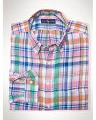 Polo Ralph Lauren Plaid Linen Pocket Shirt - Lyst