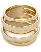 Alexis Bittar Layered Ring - Gold - Lyst