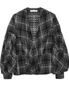 Oscar de la Renta Cutout Wool-Blend Jacket - Lyst