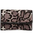 Nancy Gonzalez Leopard-Print Calf Hair Bar Clutch Bag - Lyst
