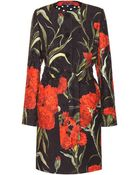 Dolce & Gabbana Floral-Printed Jacquard Coat - Lyst