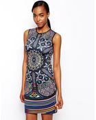 Clover Canyon Neoprene Dress In Stained Glass Print - Lyst
