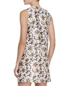 Tory Burch Esmeralda Floral Silk Dress - Lyst