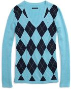 Tommy Hilfiger Classic Argyle Sweater - Lyst
