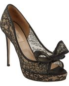"Valentino Couture Bow"" Lace Pumps - Lyst"