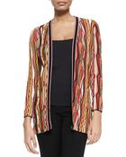M Missoni Ripple-Striped Ribbon Cardigan - Lyst