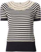 Tory Burch Nautical Stripe Sweater - Lyst