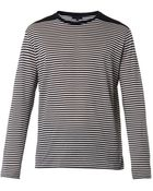 Lanvin Long-Sleeved Striped T-Shirt - Lyst