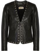 MICHAEL Michael Kors Studded Leather Jacket - Lyst