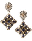 Konstantino Aspasia Square Drop Earrings With Iolite - Lyst