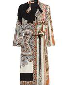 Etro Printed Silk Shirt Dress - Lyst