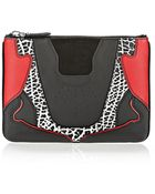 Alexander Wang Sneaker Pouch In Black And Lacquer With Imitation Rhodium - Lyst