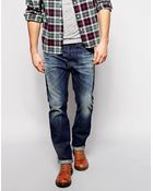 Diesel Jeans Dna Buster Regular Slim Fit 837A Mid Distress Wash - Lyst