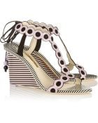 Sophia Webster Yumi Printed Leather Wedge Sandals - Lyst