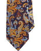 Barneys New York Paisley Jacquard Neck Tie - Lyst