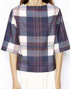 Asos Tshirt in Plaid Print - Lyst