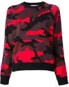 Valentino Camouflage Sweatshirt - Lyst
