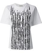 Balenciaga Striped Tshirt - Lyst