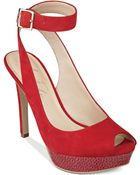 Marc Fisher Verna Ankle Strap Platform Pumps - Lyst