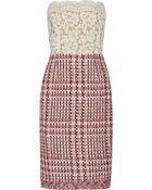 Oscar de la Renta Bouclã©-Tweed Dress - Lyst