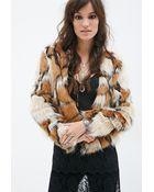 Forever 21 Multi-Tone Faux Fur Jacket - Lyst