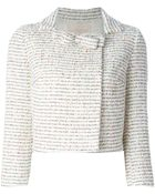 Giambattista Valli Cropped Wool-Blend Jacket - Lyst