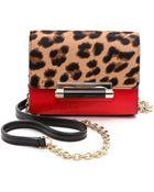 Diane von Furstenberg 440 Haircalf Micro Mini Bag - Leopard/Paprika - Lyst
