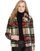 Polo Ralph Lauren Plaid Wool Duffle Coat - Lyst