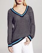 Two By Vince Camuto Honeycomb Knit Tennis Sweater - Lyst